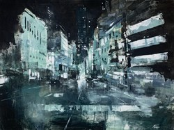 Nocturno by Paolo Fedeli - Original Painting on Stretched Canvas sized 32x24 inches. Available from Whitewall Galleries
